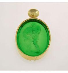 Ciondolo pasta vitrea verde