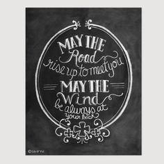St. Patricks Day  Irish Blessing Print  May The Road by LilyandVal