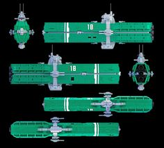 """USS Saratoga schematic """"Space: Above and Beyond"""""""