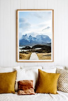 'Awakenings' Photographic Print by Kara Rosenlund. A vivid view straight into the distinctive granite peaks of the Paine mountain range. A complete unspoilt wilderness of raw beauty which makes the heart yearn for adventure and freedom. This photograph was captured in the wilderness of the Torres del Paine National Park of Patagonia. © Kara Rosenlund Shop here: http://shop.kararosenlund.com/awakenings-photographic-print/