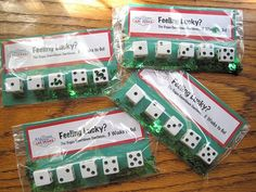 Spotted these favors over at Ready Set Craft and thought they were the cutest for a Las Vegas theme! Dice  Poker Chips   These would be grea...