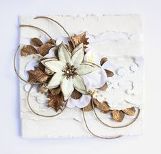 Whipped Poinsettia Poinsettia, Jewelry Crafts, Cardmaking, Jewelry Making, Paper Crafts, Scrapbook, Projects, Cards, How To Make