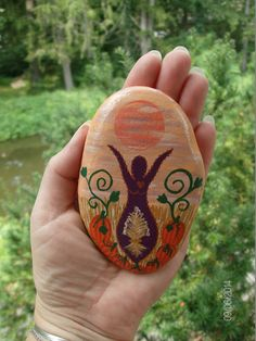 Autumn Harvest/Mabon Goddess Stone by MarciaStewartArt on Etsy, $12.00