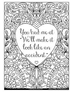 I f*cking Love You: An Irreverent Adult Coloring Book (Irreverent Book Series) (Volume Coloring Pages For Grown Ups, Love Coloring Pages, Printable Adult Coloring Pages, Coloring Books, Coloring Sheets, Swear Word Coloring Book, Coloring Pages Inspirational, Book Series, Doodle