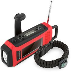 Horizons Tec HT-747 Emergency NOAA Weather Radio. Solar &...