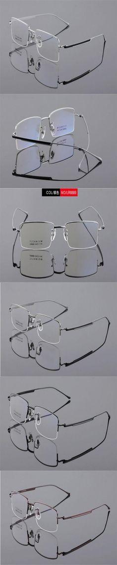 DOWER ME Brand Design Men Fashion Half Rim Titanium Silver Prescription Lens Presbyopia Eyewear Reading Eyeglasses LB8889