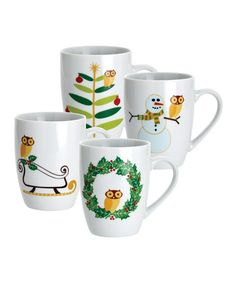 Take a look at this Rachael Ray Winter Owl Mug Set by Owls of a Feather Collection on #zulily today!