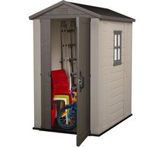 Keter Factor x Resin Storage Shed, All-Weather Plastic Outdoor Storage, Beige/Taupe Steel Storage Sheds, Plastic Storage Sheds, Garden Storage Shed, Outdoor Storage Sheds, Outside Storage, Backyard Storage, Keter Plastic Sheds, Plastic Sheds Uk, Gardens