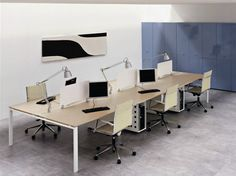 VISTA Multiple office workstation by Castellani.it