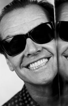 With my sunglasses on, I'm Jack Nicholson. Without them, I'm fat and - Jack Nicholson . Jack Nicholson, Celebrity Portraits, Celebrity Photos, Hollywood Stars, Classic Hollywood, Beautiful Smile, Beautiful People, Perfect Smile, Great Smiles