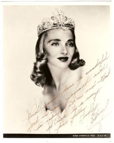 1952 Miss America Colleen Kay Hutchins