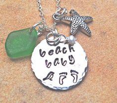 necklace beach babybeach girl necklace beach by natashaaloha, $44.00