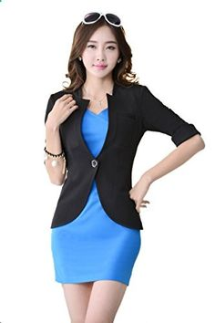 Dilefasion Women's Slim Overalls Business Suit Dress Sets  Go to the website to read more description.