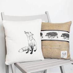 Fox And Hedgehog Cushion