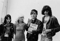 Debbie Harry and David Bowie. Joan Jett, Debbie, David Johansen and Joey Ramone. Debbie and Joey Ramone. Debbie and Joey Ramone (again). Joe Strummer, Joe Satriani, Johnny Rotten, Joey Ramone, Blondie Debbie Harry, Joan Jett, Ramones, Jethro Tull, Joe Cocker