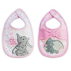 Disney Dumbo Bib Set for Baby | Disney StoreDumbo Bib Set for Baby - While Dumbo dreams of flying ''Up up in the clouds,'' baby's food will have a soft landing on this pair of bibs. Each features a different design on the front and back so they'll make messy more fun.