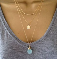 Layering necklaces is a great addition to any wardrobe! The Blue Finch has some fun and unique pieces to layer with!