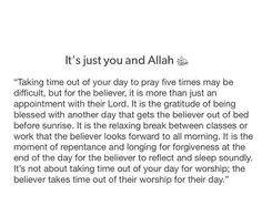 It's just you and Allah.