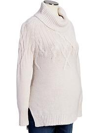 Maternity Cable-Knit Cowl-Neck Sweaters