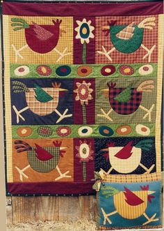 Memes Quilts - Spring Chicken quilt pattern Tree Skirts, Advent Calendar