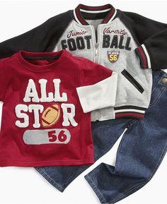 Nannette Baby Set, Baby Boys 3-Piece Football Set $31.99 thestylecure.com