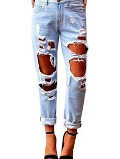 Womens Skinny Faded Ripped Casual Slim Denim Cotton Jeans Popbop is the  exclusive seller of WANGSCANIS products. If you wanna buy new and original  item, ... 8f46c7574f