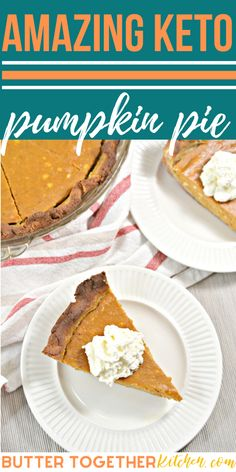 Pumpkin pie is the ultimate Fall treat, and this Easy Keto Pumpkin Pie will be your new favorite! This keto pumpkin pie has a crispy crust and a silky smooth and sweet filling. Perfect for a Thanksgiving dessert! #keto #thanksgiving #falldesserts #ketodesserts #holidayrecipes #fallrecipes