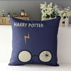 Harry Potter Cushion Cover by QuirkyHomeUK on Etsy