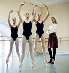 """The Terrier and Lobster: """"Lady in Red"""": Anna Selezneva with Ballet Students by Patrick Demarchelier for Vogue Russia"""