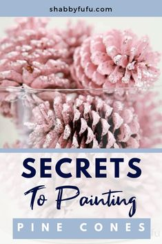 Secrets To Painting Pine Cones (that are gorgeous) - - Painting pinecones is perfect for any holiday decorating because pinecones and free and so this is budget friendly! Make a batch of painted pinecones DIY! Christmas Projects, Fall Crafts, Holiday Crafts, Crafts To Make, Diy Crafts, Paper Crafts, Pine Cone Crafts For Kids, Pinecone Crafts Kids, Pine Cone Art