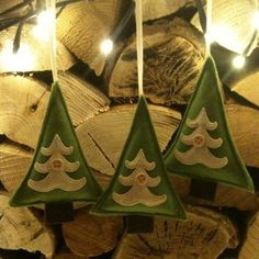 Vintage style handmade Christmas Tree decorations