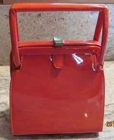 Vintage Meyers 60's Orange Faux Leather Purse