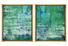 Abstract Greens and Blues