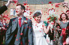 An Audrey Hepburn Style Bride And Her 1950s Inspired Red Polka Dot Wedding | Love My Dress® UK Wedding Blog