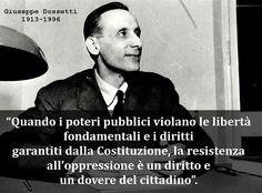 #GiuseppeDossetti #libertà #oppressione #resistenza #doveri #popolo #frase #citazioni