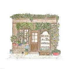 129. Tea House | Rebecca Horne, illustration