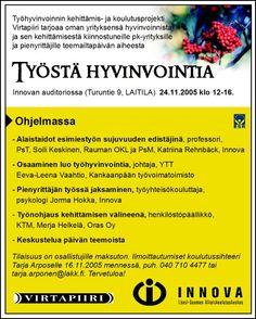 Innova, lehti-ilmoitus, 2005