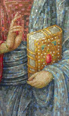 Stone Mosaic, Mosaic Art, Mosaic Tiles, Christ Pantocrator, Stages Of Writing, Mosaic Flowers, Celtic Patterns, Orthodox Icons, Byzantine