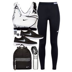 Featuring nike, invisibobble, fitbit and dot bo dance outfits, sport outfit Cute Workout Outfits, Cute Teen Outfits, Workout Attire, Teenager Outfits, Teen Fashion Outfits, Trendy Outfits, Style Outfits, Nike Outfits, Dance Outfits
