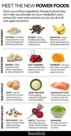 12 Power Foods You Should Definitely Be Eating Which one of these do you incorporate in your diet regularly? Women& Health mag tells us which metabolism boosting foods to load up on and how they specifically help your body. Get Healthy, Healthy Tips, Healthy Snacks, Healthy Recipes, Healthy Weight, Most Nutritious Foods, Healthiest Foods, Healthy Carbs, Healthy Detox