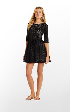Alicia Dress in Black Petal Pusher Lace $258 (w/o 10/20/12) #lillypulitzer #fashion #style