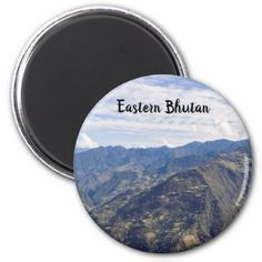 Bhutan eastern mountains magnet - outdoor gifts unique cyo personalize
