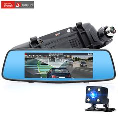 Junsun 7 inch Car DVR Camera Dual Lens with LDWS ADAS Rear view Mirror Full HD 1080P Video recorder Registrar Car dvrs dashcam