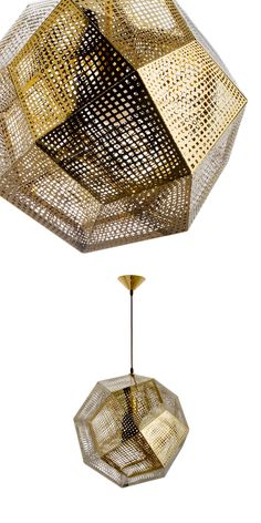 Artfully constructed from carbon steel, the Honeycomb Pendant is a study in mid-century–modern design. Its geometric, multidimensional form beautifully complements its golden hue; it's sure to illuminate any space with a unique splash of seductive sophistication.
