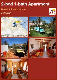 2-bed 1-bath Apartment in Denia, Alicante, Spain ►€185,000 #PropertyForSaleInSpain