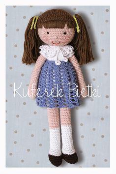 Kuferek Bietki: Lalka Bettina / Bettina, Gehäkelte Puppe/ Crochet Doll