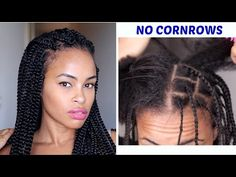 How To ➟ CROCHET BOX BRAIDS (looks like the real thing! free-parting) - YouTube