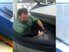 Indiana farmer uses hot tub to save baby cow - YouTube