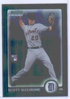 2010 Bowman Chrome Baseball Card # 189 Scott Sizemore RC - Detroit Tigers (RC - Rookie Card) MLB Trading Card in Screwdown Case by Bowman, http://www.amazon.com/dp/B00AW2L32A/ref=cm_sw_r_pi_dp_dlj0rb1Y38AAQ