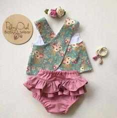 US Flower Newborn Baby Girls Outfit Clothes Romper Tops T-shirt+Shorts Pants Set - Costura para bebês - Bebe Baby Outfits, Baby Girl Dresses, Baby Dress, Kids Outfits, Newborn Outfits, Baby Girl Romper, Baby Girls, Baby Girl Newborn, Baby Boy